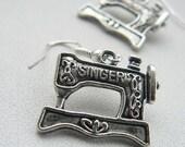 Singer Sewing Machine Crafty Girl Earrings