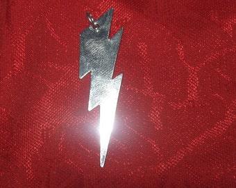 Lightning Bolt Stainless Steel  Pendant Necklace
