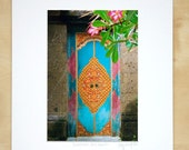 Carved Flowers, Bali, Indonesia matted print