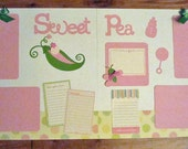 Baby Girl Scrapbook Page Kit SWEET PEA 2-12 x 12 pages ready to assemble