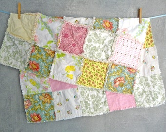 rag quilt - spring meadow