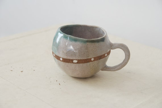 kids mug cup-  polk dot