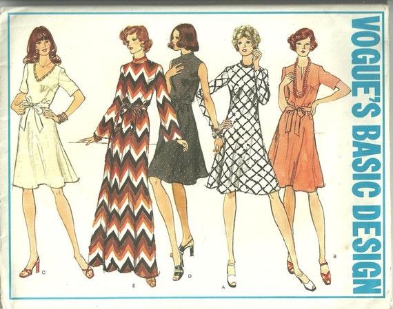 Vintage Vogue 70s Sewing Pattern 1030