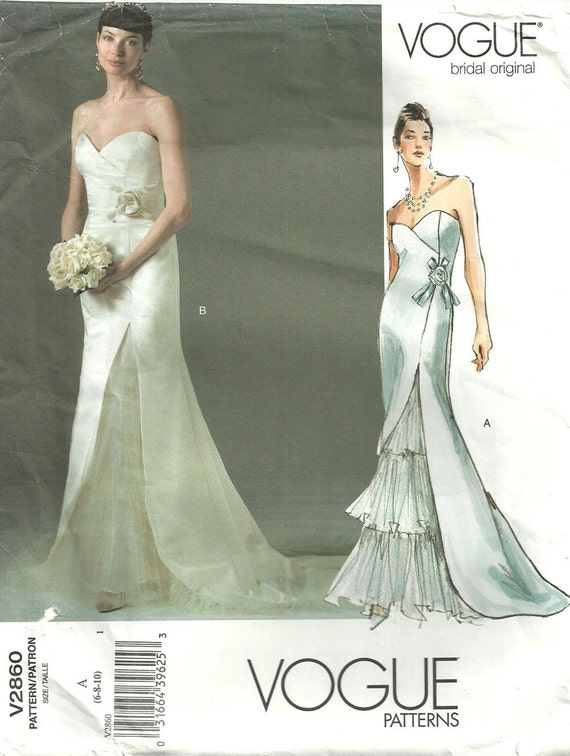 Vogue 2860 Bridal Original Sewing Pattern