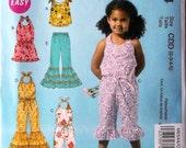 Girls Jumpsuit, Romper, Pants & Top Sz 2 to 5 McCalls 6544 uncut pattern