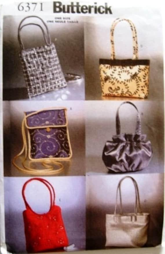 Evening Bags in 6 styles Butterick 6371 uncut pattern