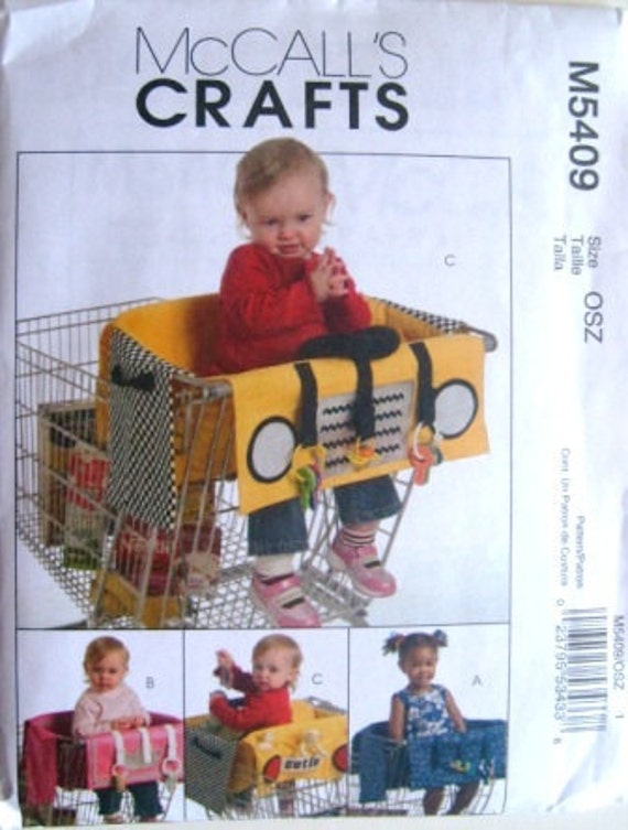 Shopping Cart Covers for Baby's Safety McCalls 5409 uncut pattern