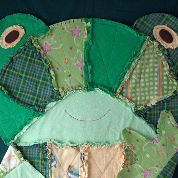 Fleece Frog Rag Quilt By Dancingferretcrafts On Etsy