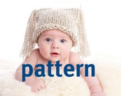 Two Tassel Hat KNITTING PATTERN, Baby Photography Prop, Sell What You Make, Instant Download