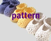 Baby Booties CROCHETING PATTERN, MaryJanes, Sell What You Make, Instant Download