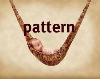 KNITTING PATTERN Infant Hammock Hanging Photography Prop, Sell What You Make, Instant Download