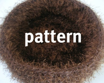Nest KNITTING PATTERN Newborn Pod Bowl Photography Prop Instructions, Instant Download