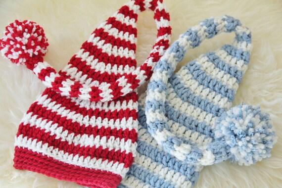 Crochet Pattern, Stocking Cap PDF Long Tail Baby Hat ...