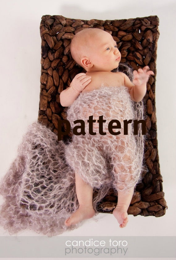 Lacy Blanket KNITTING PATTERN, Baby Photo Prop, Basket Liner, Sell What You Make, Instant Download