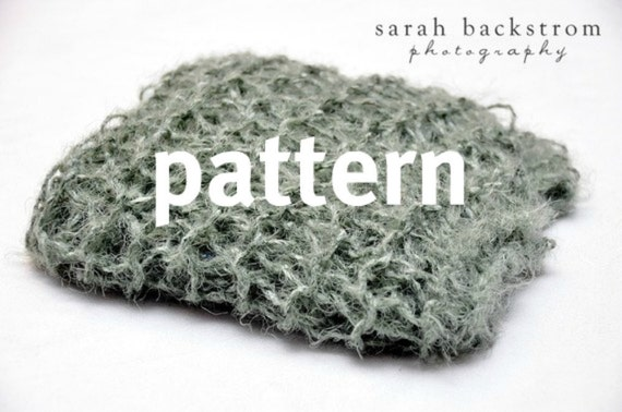 KNITTING PATTERN Baby Wrap Photo Prop, Lacy Newborn Swaddler, Mini Blanket, Instant Download