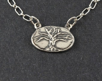 Winter Tree Sterling Silver Necklace