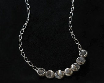 Phases of the Moon Sterling Silver Necklace
