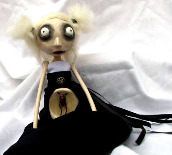 Reserved - Art Doll - Grillon - SALE