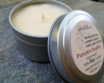 Pumpkin Souffle Soy Candle in Travel Tin