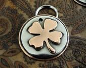 Custom Pet ID Tag, Four Leaf Clover Pet ID Tag, Identification Pet Tag