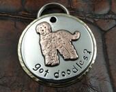 Labradoodle Dog ID Tag-Got Doodles Pet ID Tag-Pendant Keychain Fob Luggage ID Tag