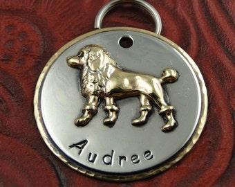 Poodle Custom Dog ID Tag-Dog Collar ID Tag-Personalized Pet ID Tag-Handmade Dog Tag