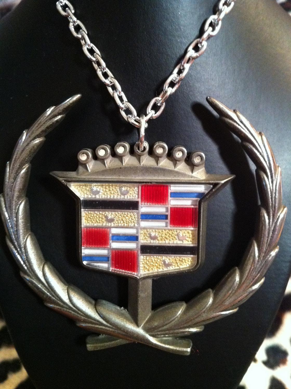Cadillac Hood Ornament Emblem Vintage Necklace By