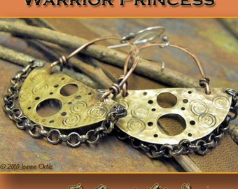 Magazine feature, Warrior Princess, Mixed Metal earrings, ThePurpleLilyDesigns