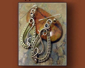 Brass Romantic, Antiqued Copper and Brass earrings, ThePurpleLilyDesigns