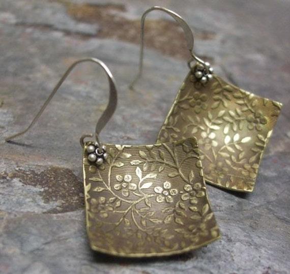 Romance, Silver and Brass earrings, ThePurpleLilyDesigns