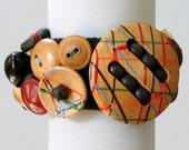 All Wood Button/Buckle Bracelet
