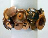 Vegetable Ivory Button Bracelet