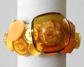 Amber Mix Button Bracelet