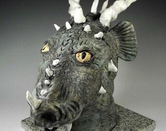 Lady Dragon Face Jug - Whimiscal Fantasy Fun