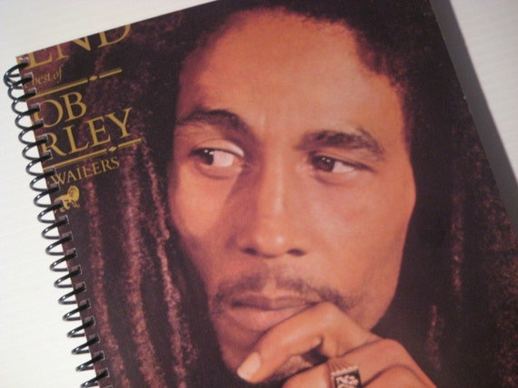 Recycled Vinyl Record Journal - Bob Marley Legend