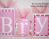 Brynn Collection - Personalized Blocks - Baby - Teacher - Classroom Decor - Baby Shower- Photo Shoots