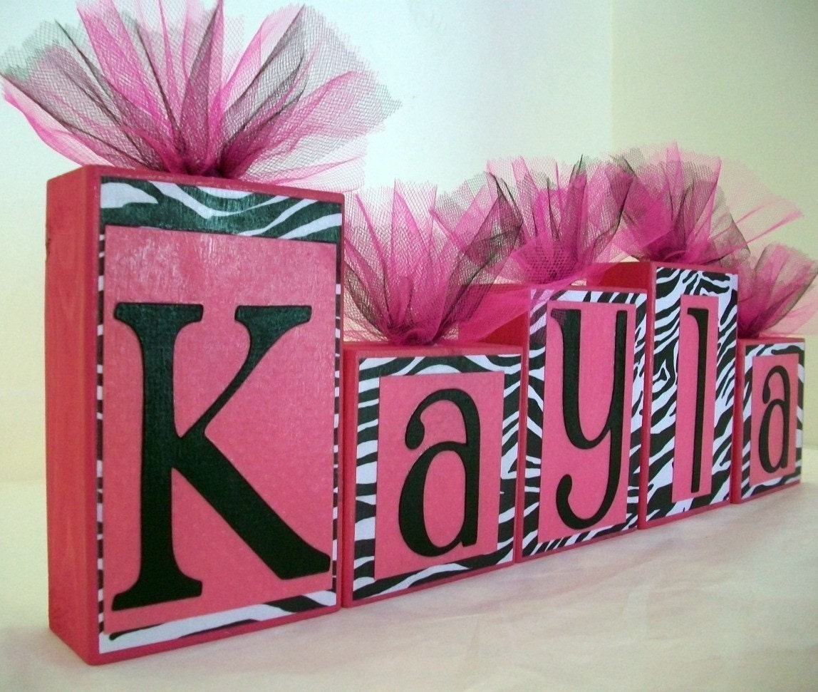 Leopard Print Baby Shower Supplies: Custom Order For Adanyell Zebra Print With Hot Pink