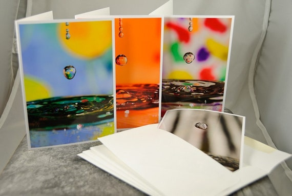Water Drops, Note Card Set of (4)