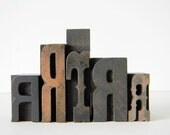 Vintage Wood Type 5 letter set R