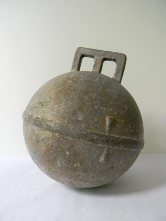 Sale Vintage Metal Fishing Float Or Buoy