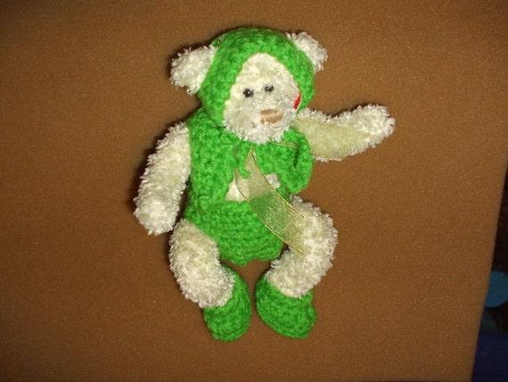 beanie baby bear in green
