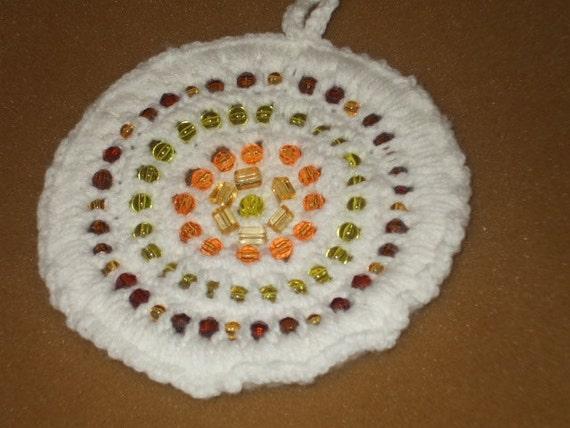6  and a half inch Crocheted Suncatcher