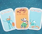 Hawaii Bookplates - Pick your design - Set of 12