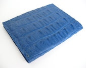 Handmade Alligator Card Wallet- Blue Leather Card Case