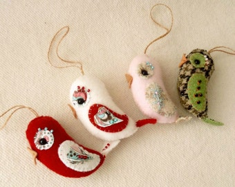 Love Bird Ornament pdf Pattern - Instant Download