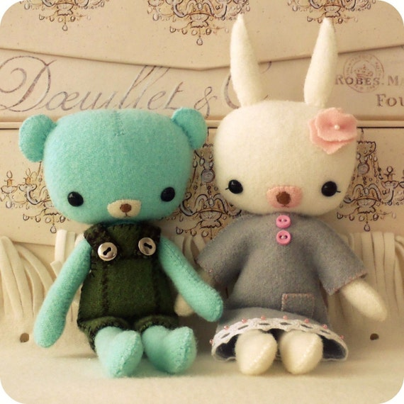 Pocket Pals - Teddy and Bunny PDF Pattern