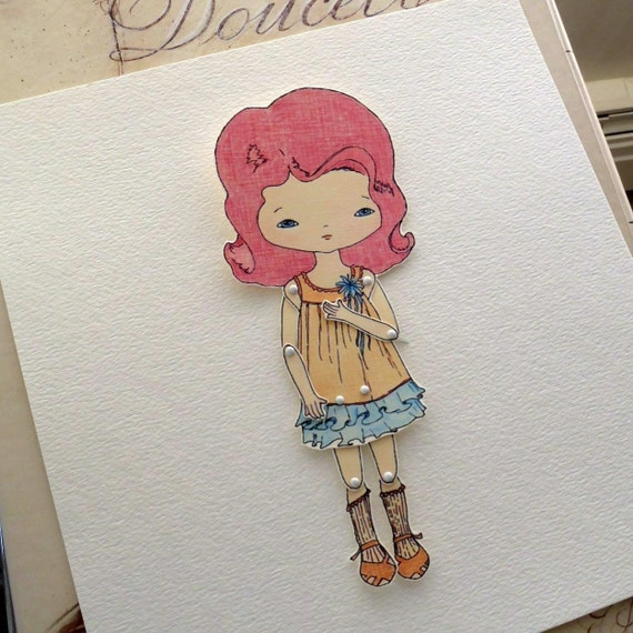 Articulated Paper Doll Print - Crimson