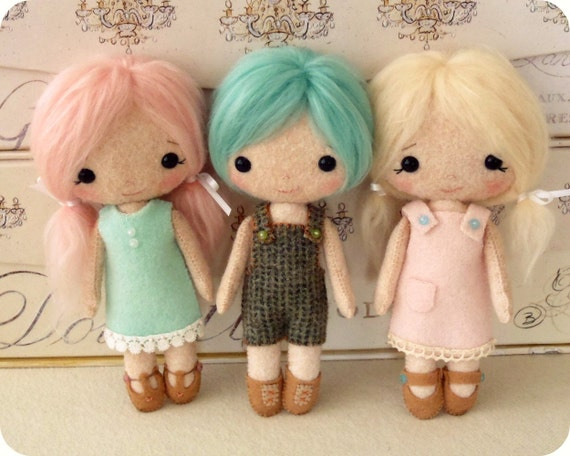 Cotton Candy Dolls pdf Pattern