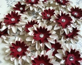 Set of (6) Candy Cane Paper Flowers