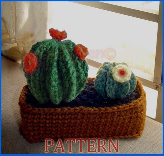 PDF Pattern No 7 - Crocheted Cactus Garden
